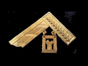 """gioiello in metallo dorato """"ex maestro venerabile"""""""