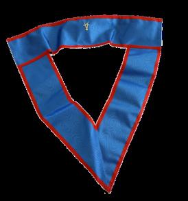 collare dignitario in seta blu con bordi rossi