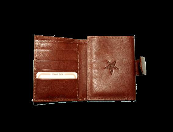 """portafogli donna con portacarte di credito e stampo """"stella d'oriente"""""""
