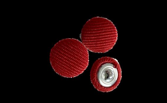 bottoni rivestiti in tessuto color rosso