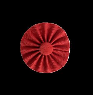 coccarda in tessuto color rosso