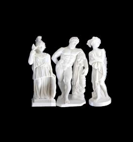 trio statue di loggia