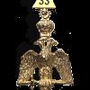 Gioiello aquila da XXXIII in metallo per RSAA