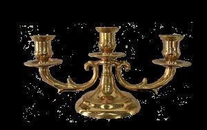 Candelieri ottone per M.V.