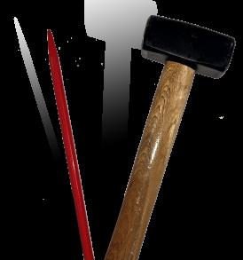 Mazzetto e scalpello martello