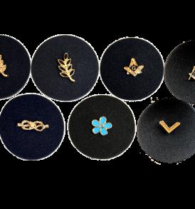 pins da giacca massonici, diversi simboli